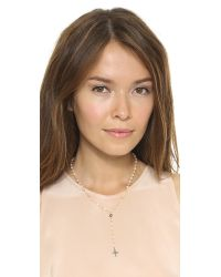 Ela Rae - Orange Yaeli Cross Necklace Peach Moonstone Multi - Lyst