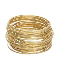 ABS By Allen Schwartz | Metallic Bangle Set | Lyst