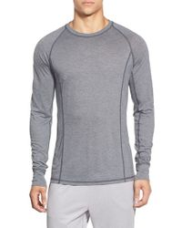 BPM Fueled by Zella | Gray Raglan Crewneck Thermal Shirt for Men | Lyst