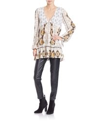 Free People - Multicolor Patterned Tunic Top - Lyst