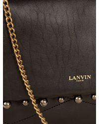 Lanvin | Black Sugar Mini Stud-Embellished Shoulder Bag | Lyst