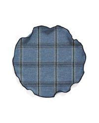 Alexander Olch - Blue Plaid Wool Pocket Round for Men - Lyst