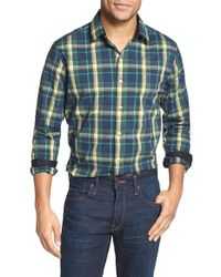 Victorinox | Blue 'morgan' Tailored Fit Plaid Sport Shirt for Men | Lyst