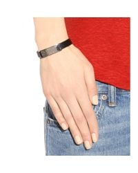 Marc By Marc Jacobs - Metallic Standard Supply Leather Bracelet - Lyst
