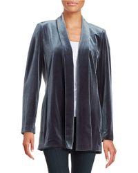 Calvin Klein | Gray Velvet Open-front Jacket | Lyst