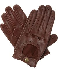 Dents - Brown Leather Driving Gloves for Men - Lyst
