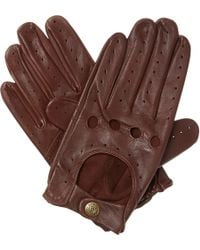 Dents | Brown Leather Driving Gloves for Men | Lyst