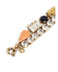 J.Crew | Multicolor Mixed Gems Double-strand Bracelet | Lyst