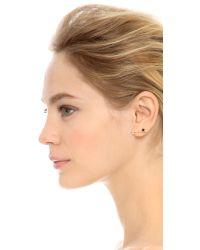 Sehti Na - Black Diamond & Onyx Bar Earring - Onyx/clear/gold - Lyst