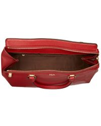 Lauren by Ralph Lauren | Red Whitby Large Convertible Satchel | Lyst