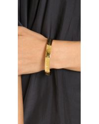 kate spade new york | Metallic Mom Engraved Bangle Bracelet - Gold | Lyst