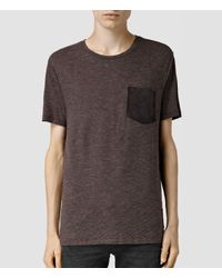 AllSaints | Purple Leonsted Crew for Men | Lyst