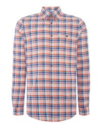 Ben Sherman - Orange Oxford Check Classic Fit Long Sleeve Shirt for Men - Lyst