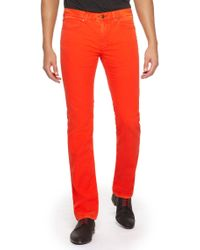 HUGO - Red 708  Slim Fit 85 Oz Stretch Cotton Jeans for Men - Lyst