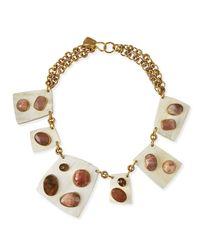 Ashley Pittman   Multicolor Sabini Light Horn Collar Necklace   Lyst