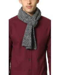 VINCE | Black Rib Marl Cashmere Scarf for Men | Lyst