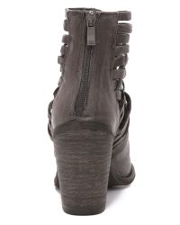 Free People - Gray Carrera Heel Boots - Black - Lyst