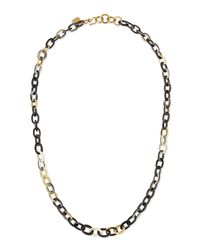 Ashley Pittman - Metallic Mini Mara Necklace In Dark Horn - Lyst