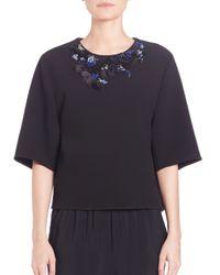 3.1 Phillip Lim - Black Oversized Embellished Top - Lyst