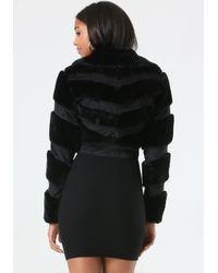 Bebe - Black Monica Faux Fur Jacket - Lyst