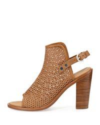 Rag & Bone | Brown Wyatt Perforated Sandal | Lyst