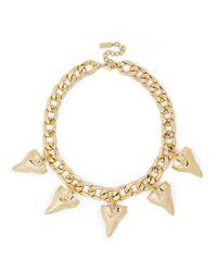BaubleBar | Metallic Gold Sharknado Bib | Lyst
