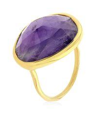 Monica Vinader | Purple Amethyst Siren Ring | Lyst