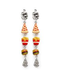 Venessa Arizaga | Multicolor 'snack Attack' Drop Earrings | Lyst