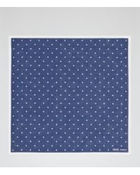 Reiss - Blue Raffy Linen Pocket Square for Men - Lyst