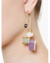 Volha - Metallic Geometric Single Earring - Lyst