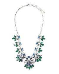 Forever 21 - Green Flower Statement Necklace - Lyst