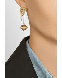 Lulu Frost | Blue Dada Drop Goldplated Crystal Earrings | Lyst