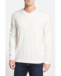 Tommy Bahama | Natural 'vacanza' Long Sleeve V-neck T-shirt for Men | Lyst