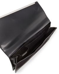 BCBGMAXAZRIA - Black Kensington Asymmetric Envelope Clutch Bag - Lyst