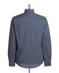 Ben Sherman | Blue Slim Fit Micro Dot Sportshirt for Men | Lyst