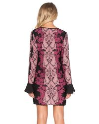 Band Of Gypsies - Black Lace Front Mini Dress - Lyst