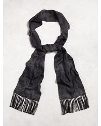 John Varvatos - Black Silk Dotted Scarf for Men - Lyst