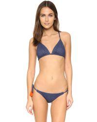 Sofia By Vix - Blue Denim Tie Side Bikini Bottoms - Lyst