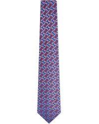Turnbull & Asser   Multi Chain Silk Tie, Men's, Blue Red for Men   Lyst