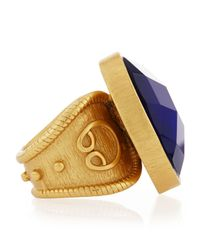 Stephanie Kantis - Round Blue Quartz Adjustable Ring - Lyst