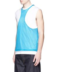 DSquared² | Blue Techno Mesh Tank Top for Men | Lyst