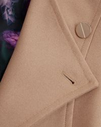 Ted Baker | Brown Lorili Long Wrap Coat | Lyst