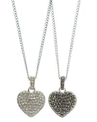 Judith Jack | Metallic Crystal And Marcasite Pendant Necklace | Lyst