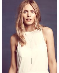 Free People - Metallic Phyllis + Rosie Jewelry Womens Silver Fox Necklace - Lyst
