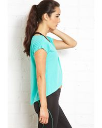Forever 21 | Blue Yoga Tulip Top | Lyst