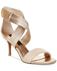 Steven by Steve Madden | Metallic Vaale Dress Sandals | Lyst