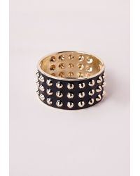 Missguided | Multi Spike Cuff Black | Lyst