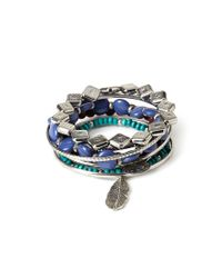 Forever 21 | Blue Beaded Bracelet And Bangle Set | Lyst