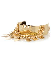 River Island | Metallic Gold Tone Dangle Arm Cuff | Lyst
