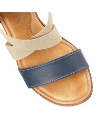 Lotus | Blue Emiliano Wedge Sandals | Lyst